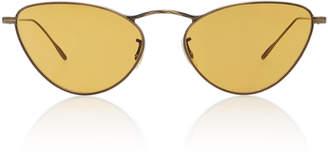 Oliver Peoples Lelaina Cat-Eye Metal Sunglasses