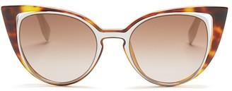 Fendi Floating Cat Eye Sunglasses, 51mm $480 thestylecure.com