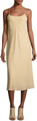 Vince Velvet Camisole Slip Dress, Dill
