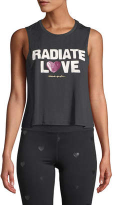 Spiritual Gangster Radiate Love Cropped Muscle Tank
