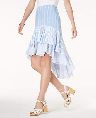 One Hart Juniors' Tiered Ruffled High-Low Skirt, Created for Macy's