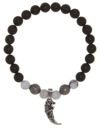 Jean Claude Stainless Steel Black Onyx Bracelet