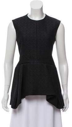 Celine Sleeveless Matelassé Top w/ Tags