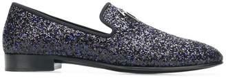 Giuseppe Zanotti Design logo glitter loafers