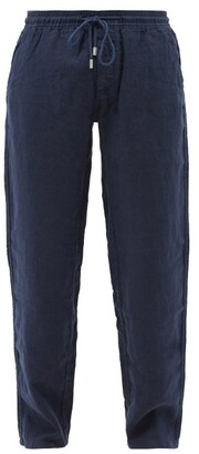 Vilebrequin Linen Trousers - Mens - Navy