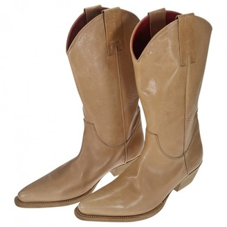 Pierre Hardy Camel Leather Boots