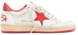 Golden Goose Ballstar Low Top Leather Trainers - Womens - Red White