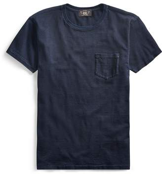 Ralph Lauren Indigo Striped Cotton T-Shirt