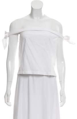 MLM Label Tie Shoulder Sleeveless Top
