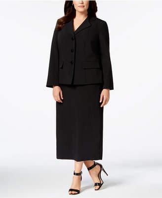 Le Suit Plus Size Three-Button Column Skirt Suit