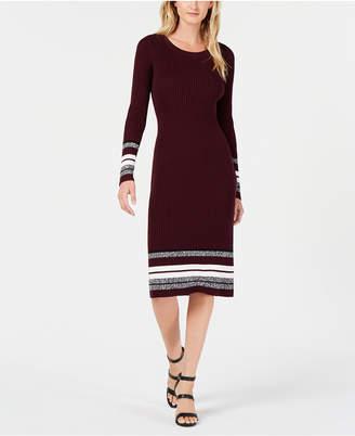 Bar III Ribbed-Knit Midi Sweater Dress