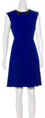 Mason Leather-Trimmed Cutout Dress