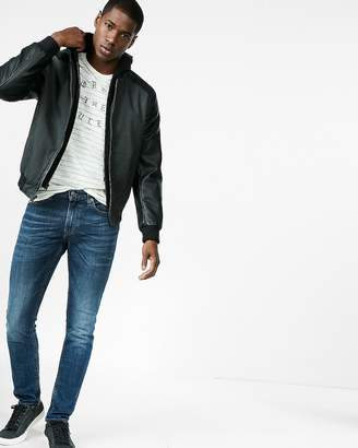 Express Faux Suede (Minus The) Leather Sleeve Jacket