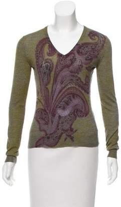 Etro Printed Cashmere Sweater