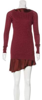 Brunello Cucinelli Silk & Cashmere-Blend Sweater Dress
