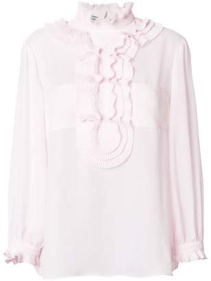 Prada ruffle-trimmed top