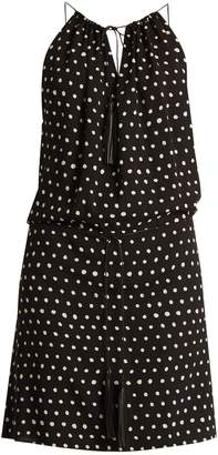 Saint Laurent Polka-dot print dropped-waist dress