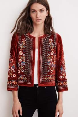 Velvet by Graham & Spencer Velvet By Graham Spencer Nita Velvet Embroidered Jacket