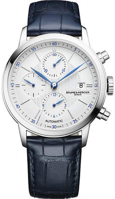 Baume & Mercier 10330 Classima alligator-leather chronograph watch