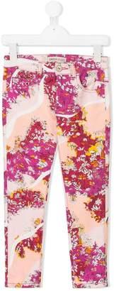 Emilio Pucci Junior floral skinny jeans