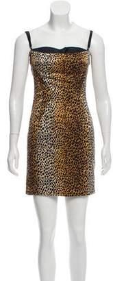 Dolce & Gabbana Silk Animal Print Dress