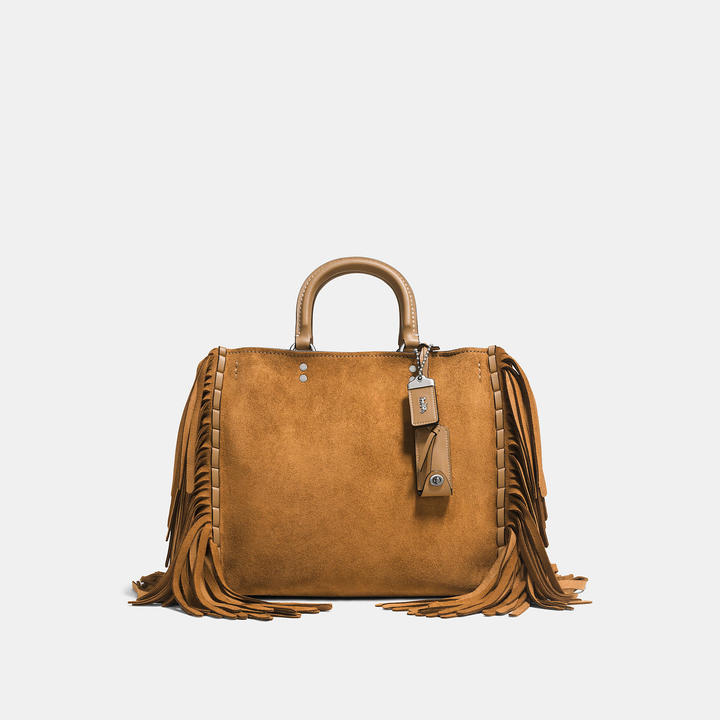 Coach   COACH Coach Rogue In Cervo Suede With Fringe