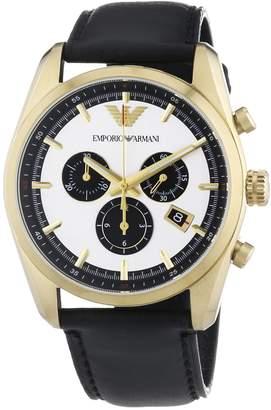 Emporio Armani Men's Sportivo AR6006 Leather Analog Quartz Watch