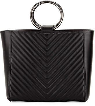 Jagger Kc Mara Mini V Quilt Leather Per Tote Bag