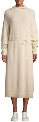 Vince Wool-Cashmere Turtleneck Long Dress