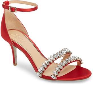 Badgley Mischka Melania Crystal Embellished Ankle Strap Sandal