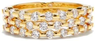 Goldtone Jeweled Ring Set