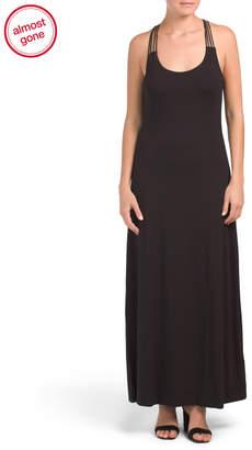 Nicole Miller Macrame Back Tank Maxi Dress