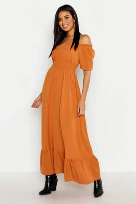 boohoo Ruffle Detail Sweetheart Maxi Dress