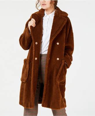 Max Mara Furry Button-Front Jacket