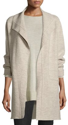 Eileen Fisher Boiled Wool Funnel-Neck Coat $199 thestylecure.com