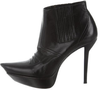 Balenciaga  Balenciaga Leather Platform Booties