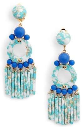 Lele Sadoughi Samba Beaded Drop Earrings