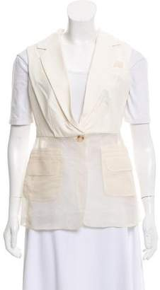 Elizabeth and James Notch-Lapel Silk-Paneled Vest