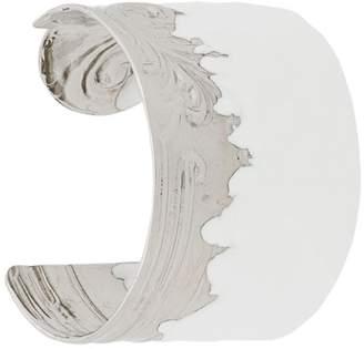 Maison Margiela two-tone cuff bracelet