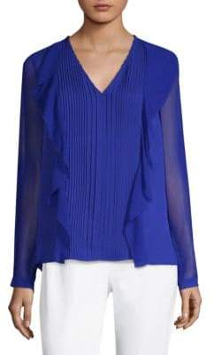 Elie Tahari Bailey Silk Blouse