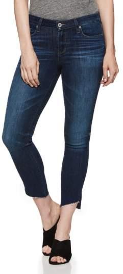 PAIGE Verdugo Angled Raw Hem Crop Jeans