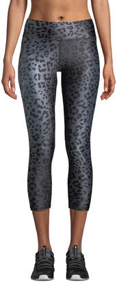 Terez Animal-Print Tall Band Capri-Length Leggings