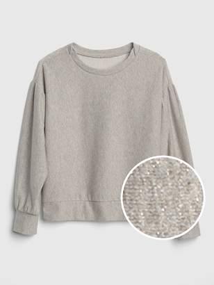 Gap Shimmer Balloon-Sleeve Sweatshirt