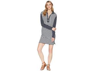 Chaps Striped French Terry Dress Women's Dress