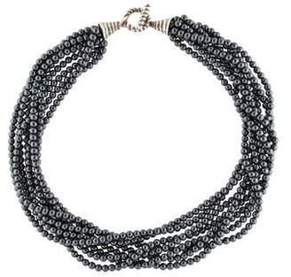Tiffany & Co. Hematine Multistrand Torsade Necklace