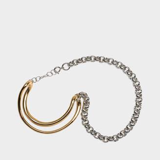 Charlotte Chesnais Initial Chain Bracelet in Yellow Vermeil