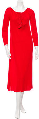 Jean Paul Gaultier Long Sleeve Embroidered Dress $195 thestylecure.com