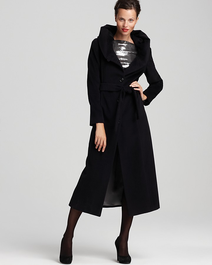 Calvin Klein Premium Belted Coat with Hood