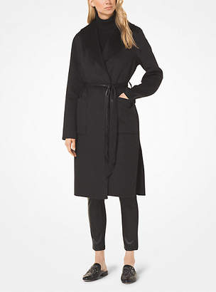 Michael Kors Wool-Blend Wrap Coat