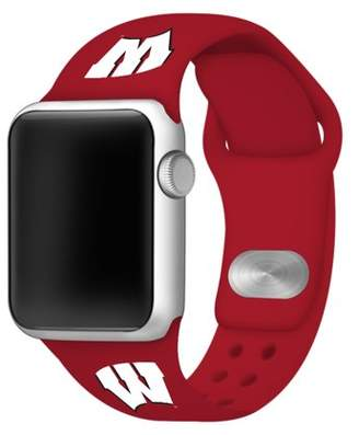 Affinity Bands Wisconsin Badgers Silicone Sport Band for Apple Watch - 42mm
